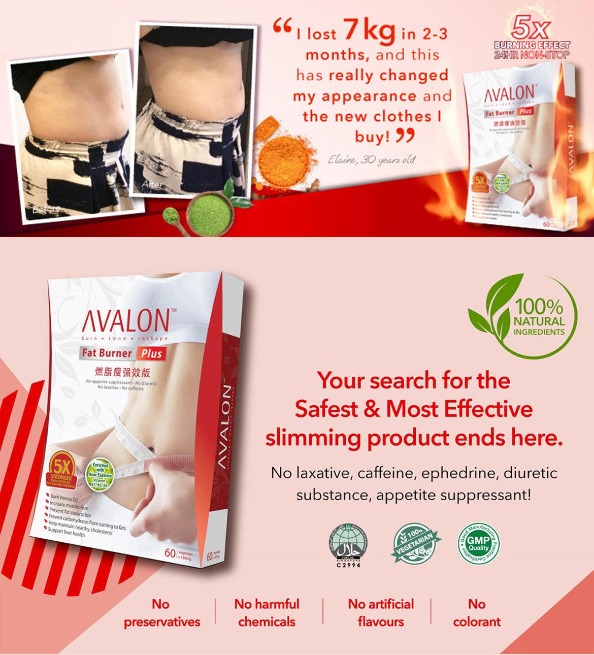 Avalon Fat Burner Plus Rasva kadumise piimakokook